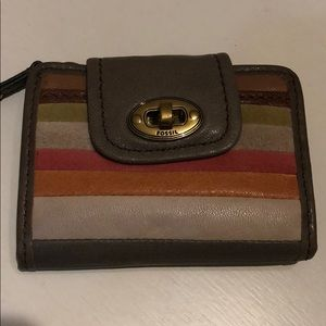 NWT Fossil Colorful Mason Patchwork Wallet
